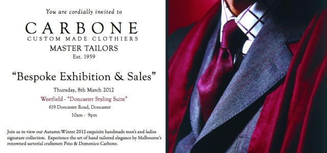 Melbourne Tailors Event