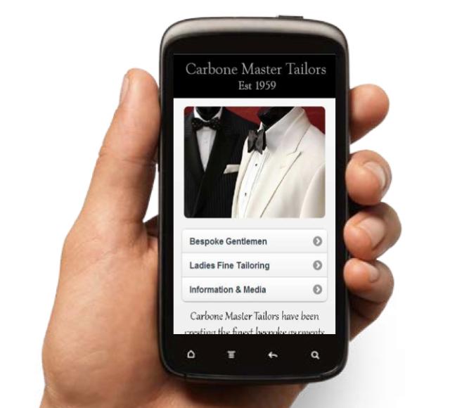 Carbone Master Tailors WebApp