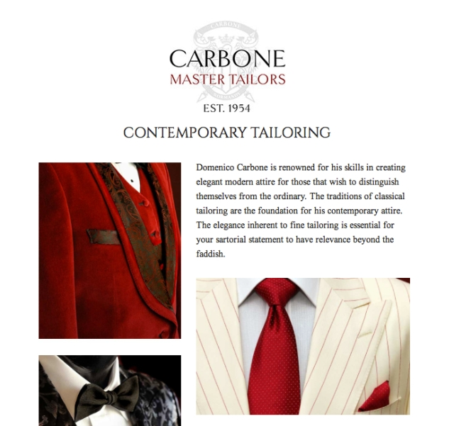tailors website